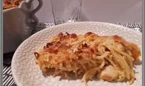 Gratin de Spaghetti au poulet