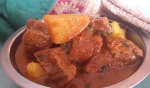 Cari de boeuf avec pommes de terre à la Mauricienne