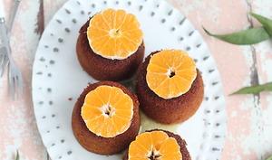 Petits gâteaux à l'huile d'olive, polenta et clémentines