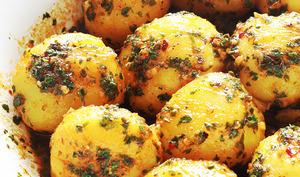 Pommes de terre sauce chermoula / charmoula