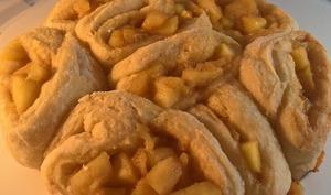 Brioche aux pommes caramélisée