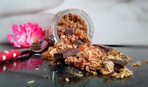 Granola coco noisettes abricots healthy