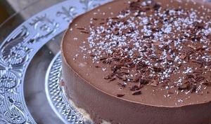Entremets chocolat sur dacquoise