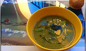 Velouté de brocoli et shitaké