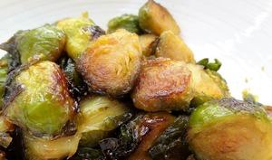 Choux de Bruxelles caramélisés au sirop d'érable La tendresse en cuisine