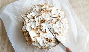 Gâteau rhubarbe et meringue