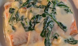 Saumon sauce au cresson