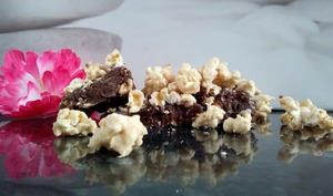 Brownie et Pop-corn au caramel de Christophe Michalak
