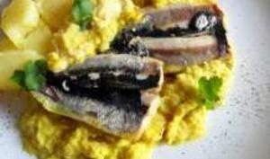 Sardines farcies noix raisins secs sauce pomme