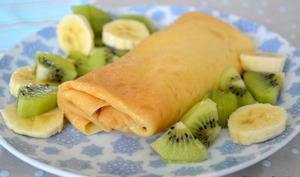 Crêpes fourrées à la crème vanille et aux fruits