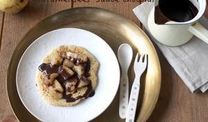 Pancakes aux poires caramélisées
