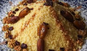 La seffa ou le couscous sucré aux fruits secs