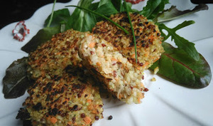 Galettes quinoa carotte choux raves