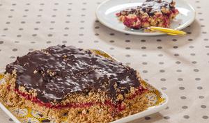 Barres de céréales framboises chocolat