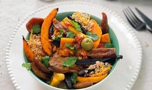 La recette du tajine aux abricots et semoule aux zestes d'orange