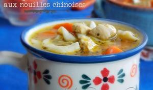 Soupe au poulet et nouilles chinoises