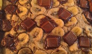 Pudding aux bananes et chocolat