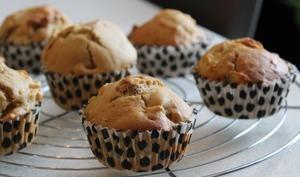 Muffins à la pomme, noix et spéculoos