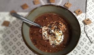 Soupe au chocolat et crème de marron