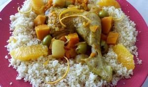 Tajine de poulet aux agrumes