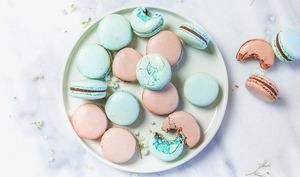 Macarons menthe chocolat