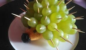 Hérisson raisins