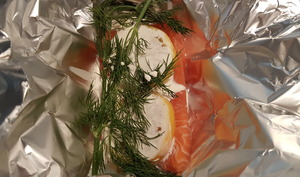 Saumon citron-aneth en papillote