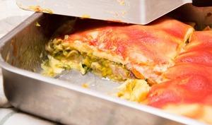Lasagnes aux poireaux et au poulet