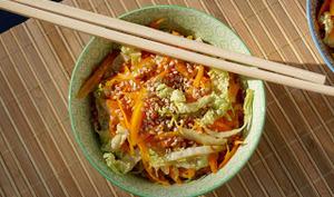 Poêlée de chou chinois et carottes