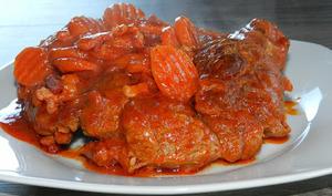 Jarret de boeuf à la sauce tomate