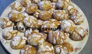 Ghoribas aux cacahuètes et noix de coco