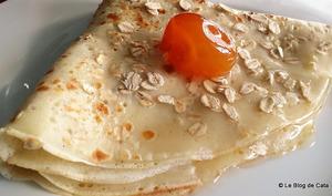 Crêpes aux flocons d'avoine et kumkuat confit