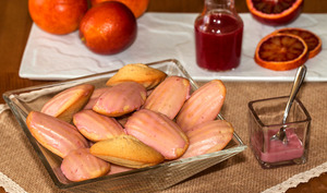 Madeleines glacées à l'orange sanguine