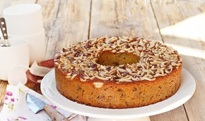 Gâteau agrumes et fruits secs