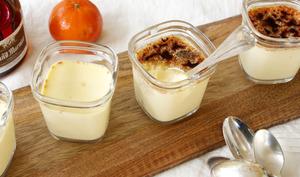 Oeufs au lait aux clémentines et Grand Marnier