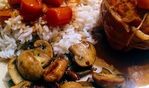 Paupiettes de veau aux carottes et sa poêlée de champignons