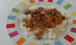 Rouelle de porc au massalé kaloupilé et riz blanc