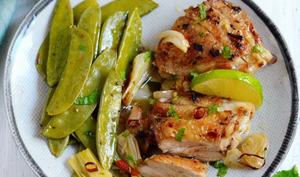 Poulet au piment, citron vert et huile optima