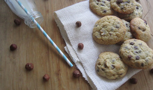 Hazelnut and chocolate cookiz