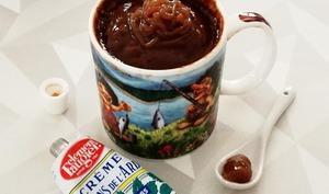 Mug cake coulant à la crème de marrons