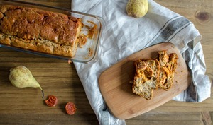 Cake poire chorizo pour l'apéro