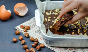 Brownie chocolat noisette au potiron