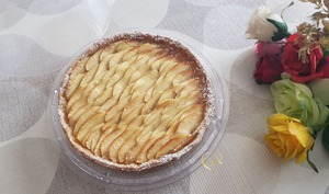 Tarte aux pommes poire-vanille avec Léonce Blanc