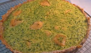 Tarte au brocoli et mimolette