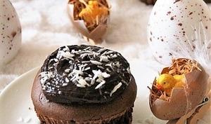 Muffins au chocolat et leur ganache