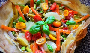 Tarte méli mélo aux légumes du printemps