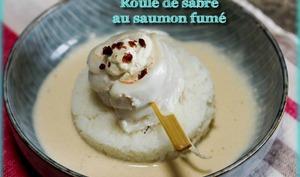 Roulé de sabre au saumon fumé