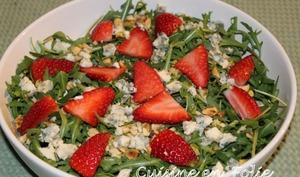 Sweet salade de fraises et roquette