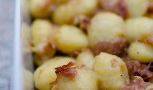 Gnocchi au bacon et aux noix