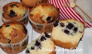 Des muffins aux myrtilles